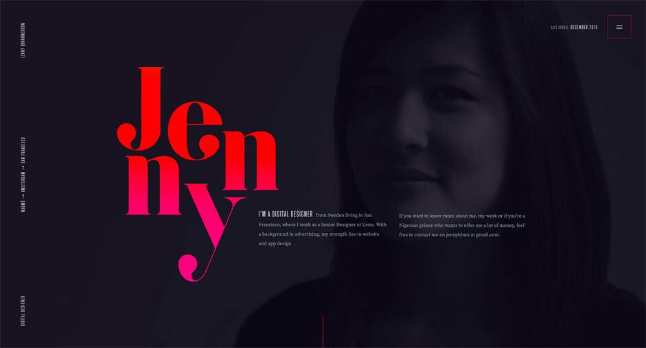 tipografie tendinte de web design 2017